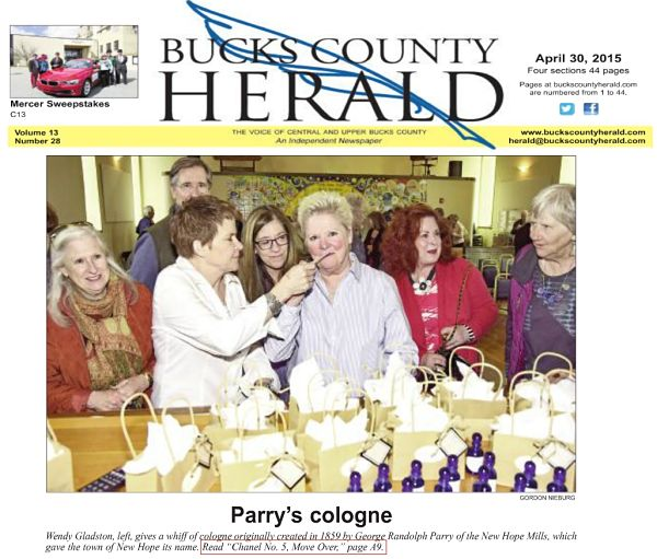 """Randolph Parry cologne launch in bucks county New Hope Historical Society at the annual """"Mondays At The Mansion"""" meeting"""