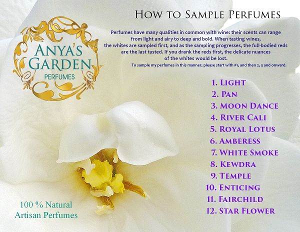 How to Sample Perfumes - from Anya's Garden Perfumes