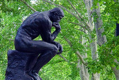 Springtime image from the Rodin Museum in Philadelphia, my hometown. I grew up knowing and loving this statue.